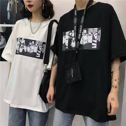 Fajne Harajuku Naruto Tshirt Streetwear mężczyźni moda lato aminy T-shirt na co dzień Cartoon drukuj męskie topy śmieszne japonia T Shirt chłopcy 1