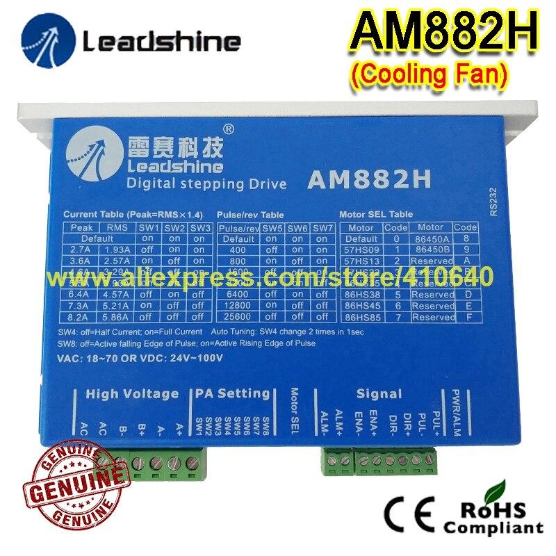 8be0b7921 1 peça Frete Grátis AM882H Leadshine 2 Fases Digital Stepper Unidade Com  Max 80 V 8.2A Com Ventilador de Refrigeração 100% QUALIDADE GENUÍNA