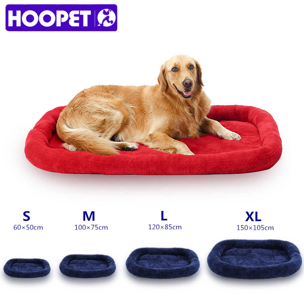 HOOPET Large Dog Bed Big Size Pet Cushion Warm Sleeping Bed Golden Retriever Cage Mat Pet House Mat L Retail And Wholesale