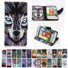 For LG Optimus L70 L 70 65 LS620 Case D315 D325 D320 D329 D320N MS323 Painting Flip Phone Leather Cover For L65 Dual D285 D280