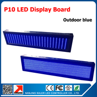 High Brightness 24*104cm P10 outdoor LED display 10mm display LED screen outdoor blue led sign