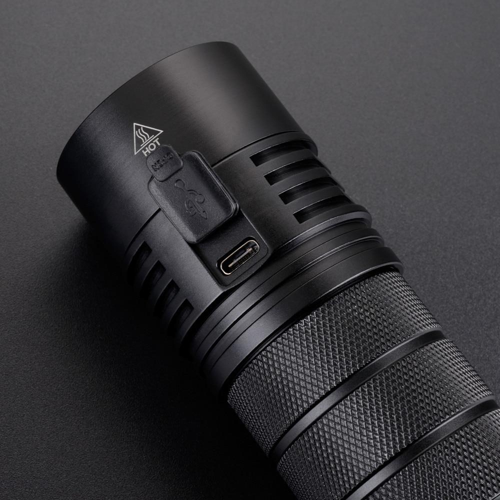 500-Lumen DEL rechargeable lampe de poche 2-way Chargeur USB ultra-lumineux étanche