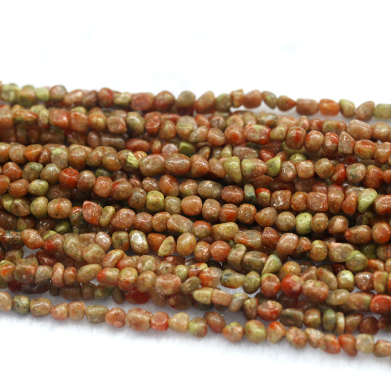 Discount Wholesale Natural Green Pink Autumn Jasper Nugget Loose Beads Free Form Beads 3-12mm Fit Jewelry 15 03972
