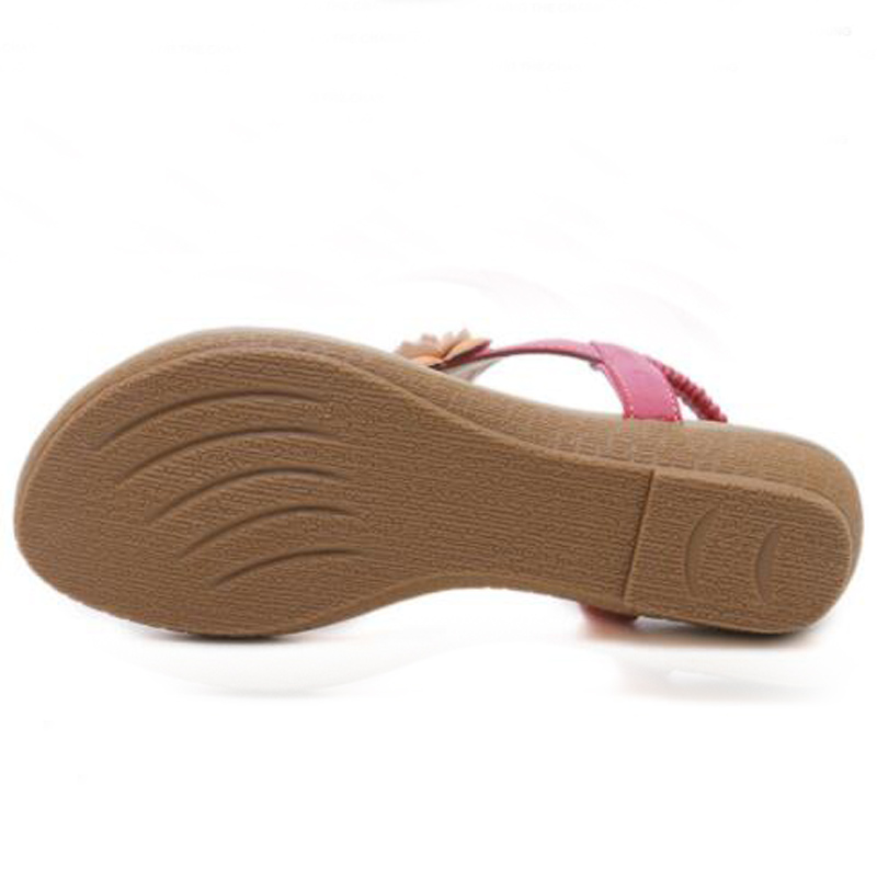 WHOSONG Summer Comfortable Sandals flat Women Sandals Fashion Flip Flops Shoes Woman Sandals beach shoes 35 40 M144 in Low Heels from Shoes