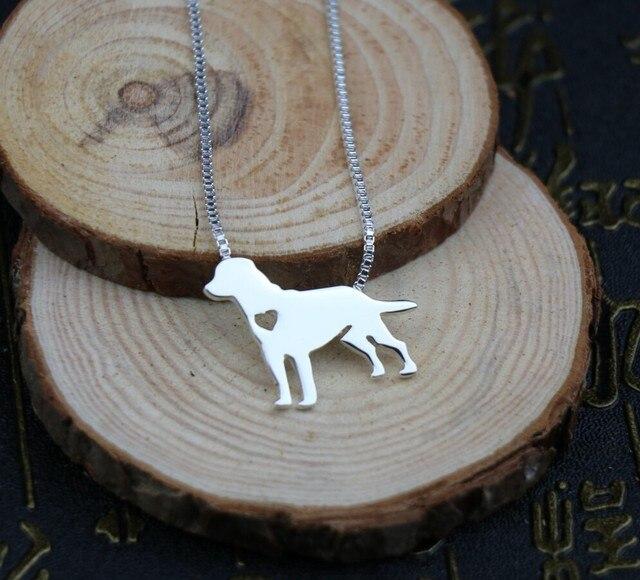 Фото ожерелье с лабрадором ретривером металлическая подвеска в виде