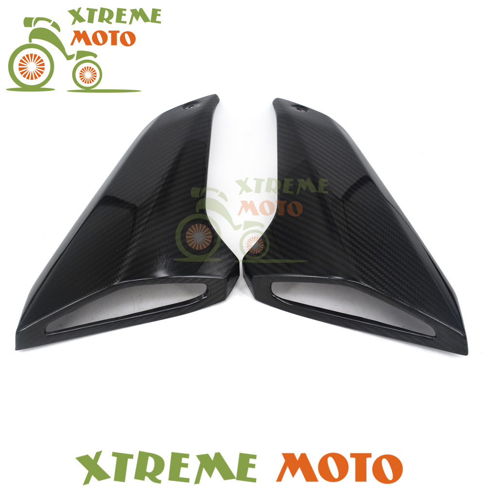 Motorcycle Real Carbon Fiber Gas Tank Side Cover Trim Fairings For Yamaha MT09 FZ09 MT-09 FZ-09 MT FZ 09 2014 2015 2016 yandex w205 amg style carbon fiber rear spoiler for benz w205 c200 c250 c300 c350 4door 2015 2016 2017