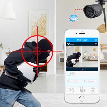Techage Audio Record Wifi CCTV Security System 4CH 1080P 2MP Wireless NVR Kit IR Outdoor Camera P2P Video Surveillance Set 1TB