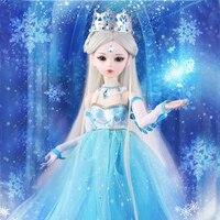 60 см снег кукла королева 1/3 Bjd 23 шарнирная свадебное платье ручной работы принцесса обувь для девочек куклы дети игрушечные лошадки детей по