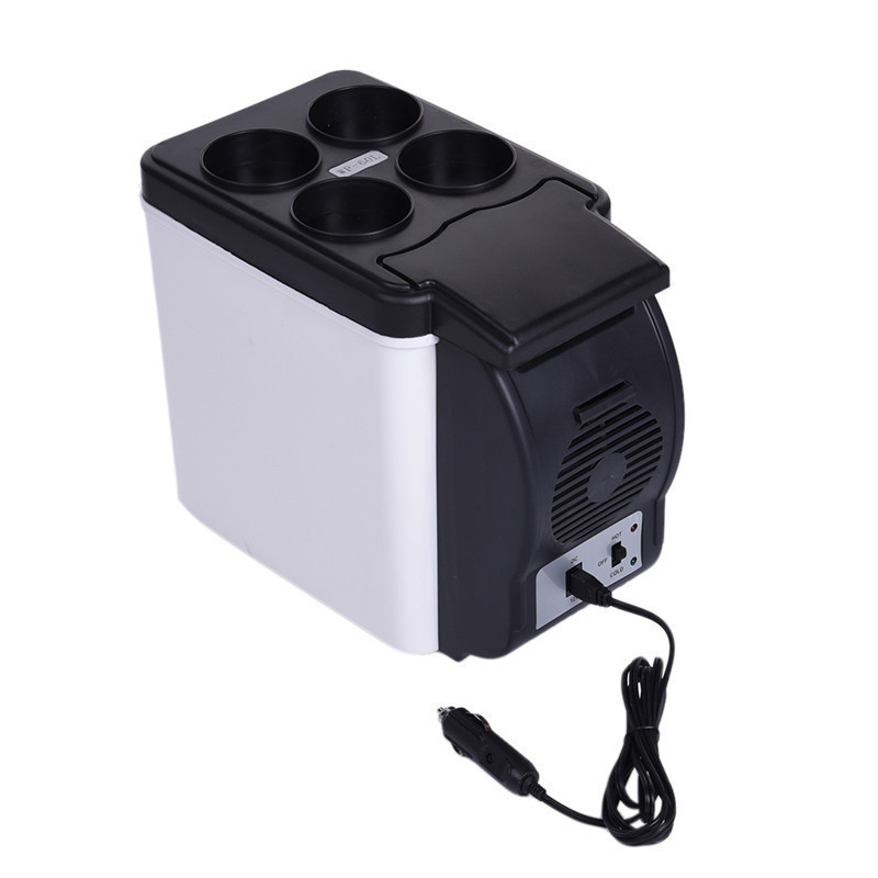12V 6L Portable Mini Warming Cooling Vehicle Refrigerator Freezer Fridge  Hot Cold Double For Car And