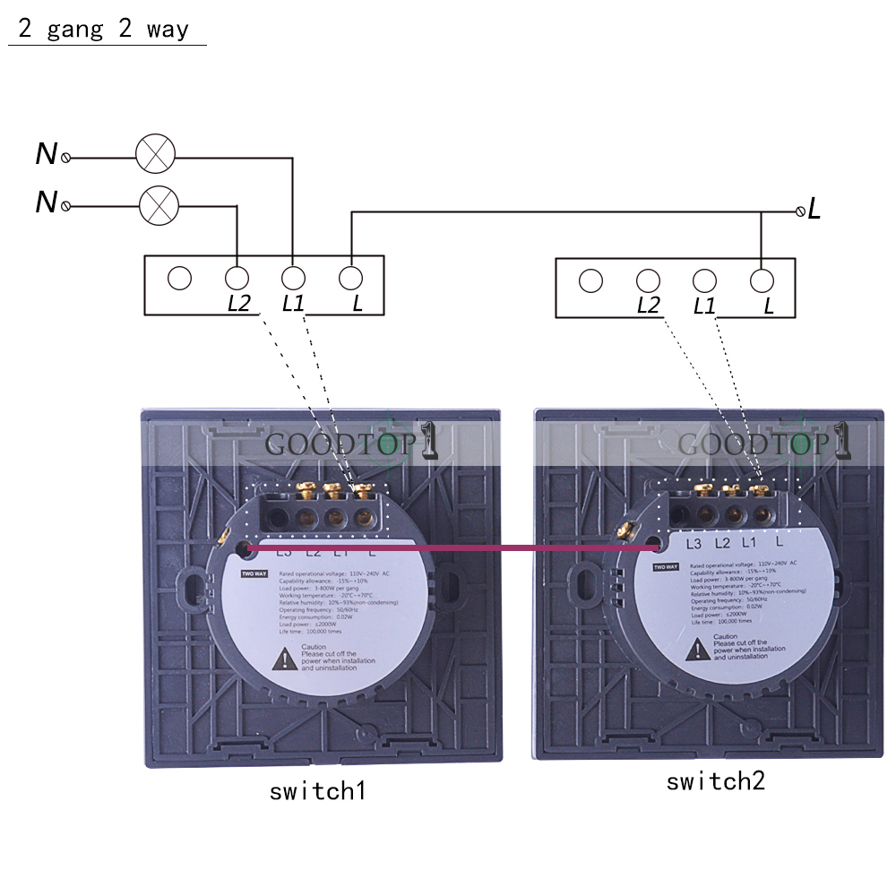 2 Way Touch Switch Wiring Diagrams Data Base Working White Crystal Glass Wall Light Switches Gang Ac110 Rh Aliexpress Com At