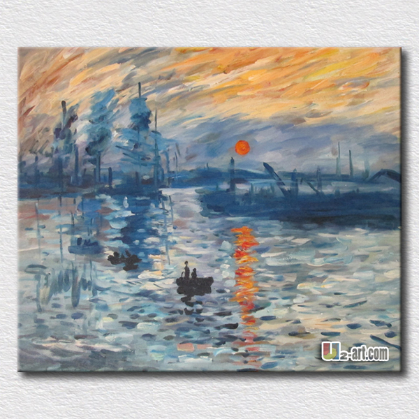 Beautiful sunrise oil painting by Monet hand made paintings reproduction canvas arts gift for friends home decorationBeautiful sunrise oil painting by Monet hand made paintings reproduction canvas arts gift for friends home decoration