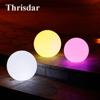 Thrisdar RGB Globe Ball Solar Garden Lawn Light With Remote D25CM 30CM IP65 Wedding Party Xmas Outdoor Solar Landscape Light