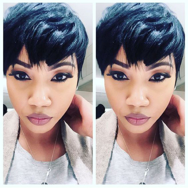 Malaysian Straight Virgin Human Hair Short Cut Weave Bump