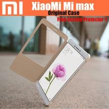 100% Оригинал Xiaomi Mi Max дело PC + PU Smartwake Откидная Крышка Для Xiaomi Mi Max Мобильный Телефон оболочки