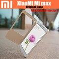 100% original xiaomi mi max caso pc + pu cubierta del tirón para xiaomi mi max smartwake cáscara del teléfono móvil