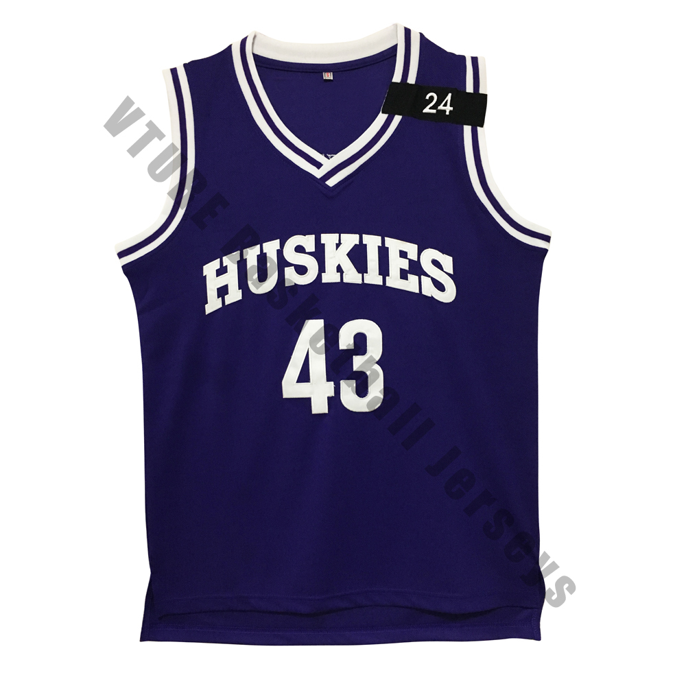 5af0fbcab15 VTURE The 6th Man Kenny Tyler 43 Huskies Basketball Jersey Purple-in Basketball  Jerseys from Sports   Entertainment on Aliexpress.com
