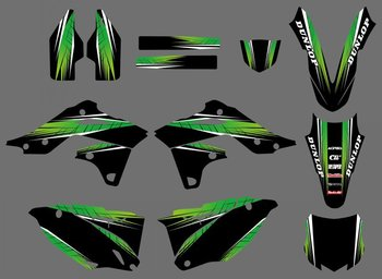 New Style 0434  Power TEAM GRAPHICS & BACKGROUNDS DECALS STICKERS Kits Fit for  KX250F KXF250 2013-2014