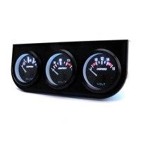 Cnspeed óleo temp gauge voltímetro medidor de pressão óleo 3 em 1 triple kit carro 52mm elétrico volt auto carro calibre