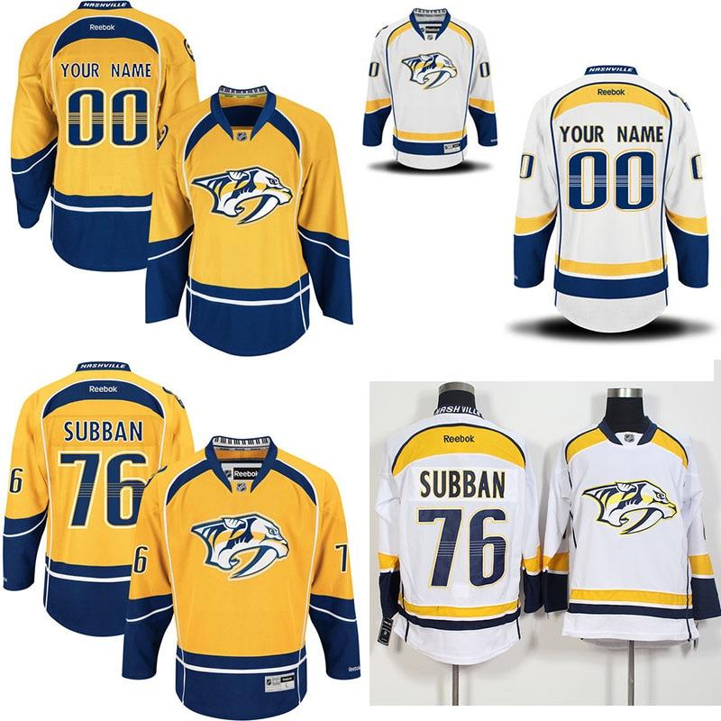 ... hot sale 76 PK Subban Customized Nashville Predators hockey jerseys  100% stitched Mens Premier Away China Predators Jersey ... e3a855065