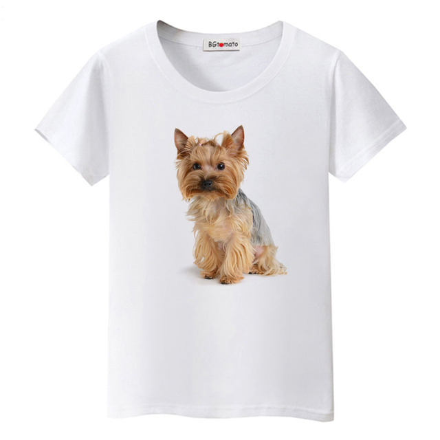 1BGtomato Cute 3D dog printing Shirts Girls lovely Animal Tops hot sale Brand New Casual T-shirt women funny 3D dog tshirt 4