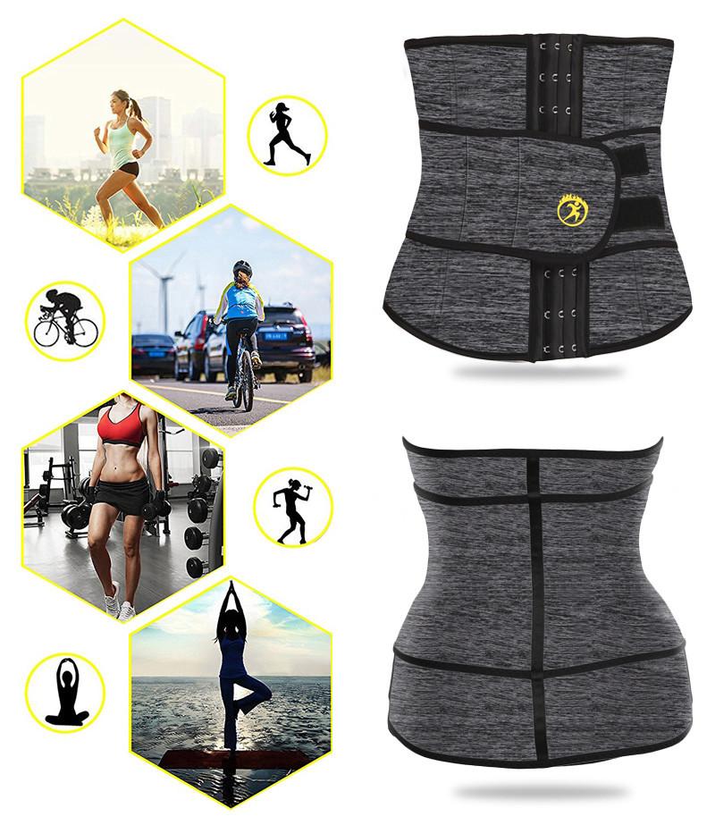 6ea002124f5 2019 NINGMI Hot Shaper Waist Trainer For Women Neoprene Sweat Shirt ...