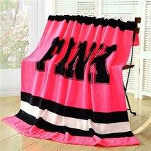 Rosa VS Geheimnis Decke auf Bett mantas para cama Hülse Plaid Werfen Sofa Fleece Hause Für Barbie dekoration schlafzimmer Bettwäsche heißer