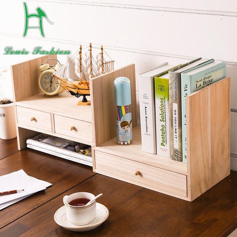 Louis Fashion Creative Children Wood Desk Desktop Bookcase