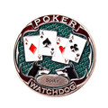Retro Brass Card Protector Poker Chips Dealer Button Zhuang Code Card Guard Pokerstars Raise Call Check All In Watch Dog