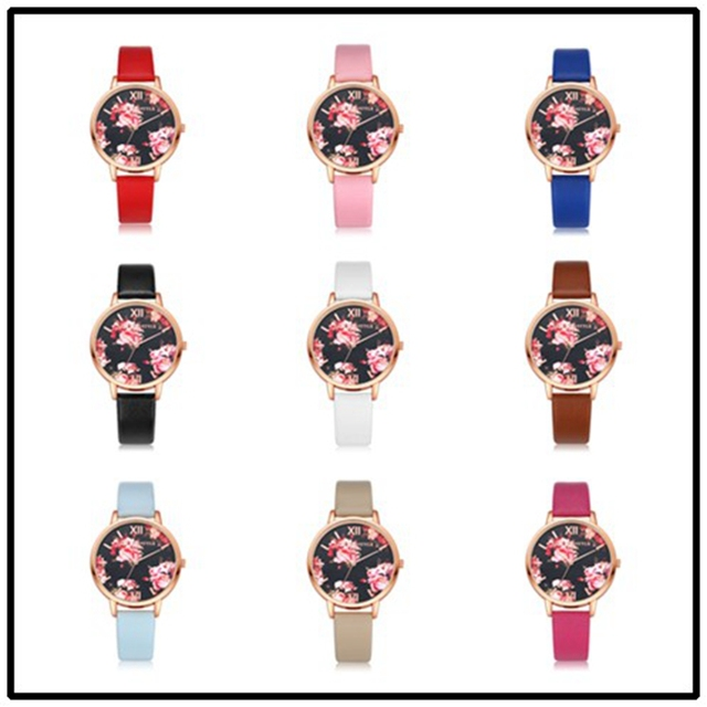 High Quality Fashion Leather Strap Rose Gold Women Watch Casual Love Heart Quartz Wrist Watch Women Dress Ladies Luxury Watches 5