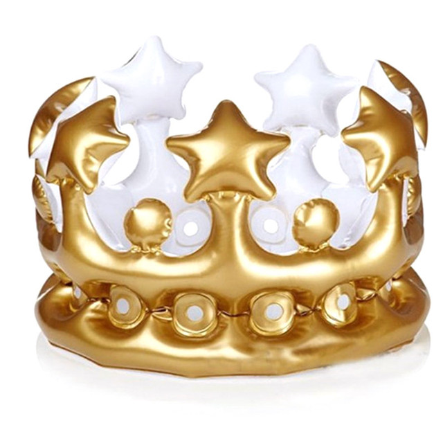 1pc Creative Personalized Inflatable Crown Inflated Hat Event Festival Supplies Stage Prop Children Kids Birthday Party Decora27
