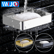 IWJOO Bathroom Soap Dish Wall Mount Stainless Steel Rack Shelf Toilet  Black
