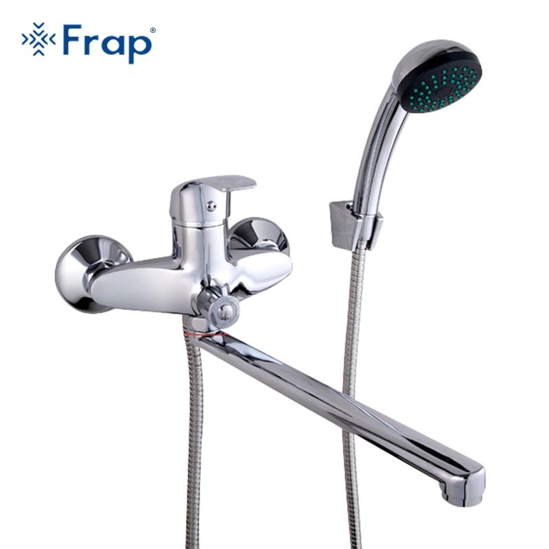 FRAP Набор 30 см длина выход поворачивается латунный корпус Ванная комната смеситель для душа четыре ручки варианты banheiro torneiras monocom F22001
