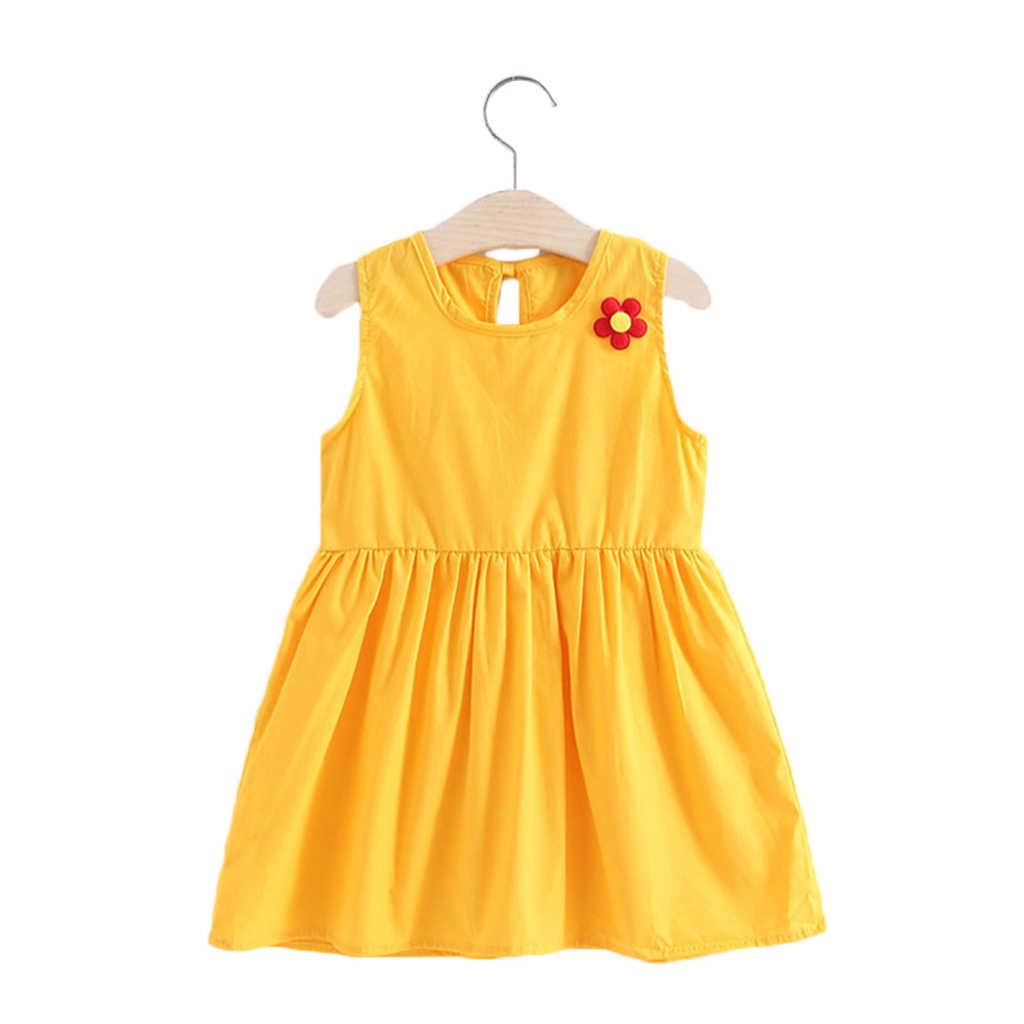 子供服ドレス夏2020幼児の女の子の服プリンセスドレスベビーのため女の子2-6Year