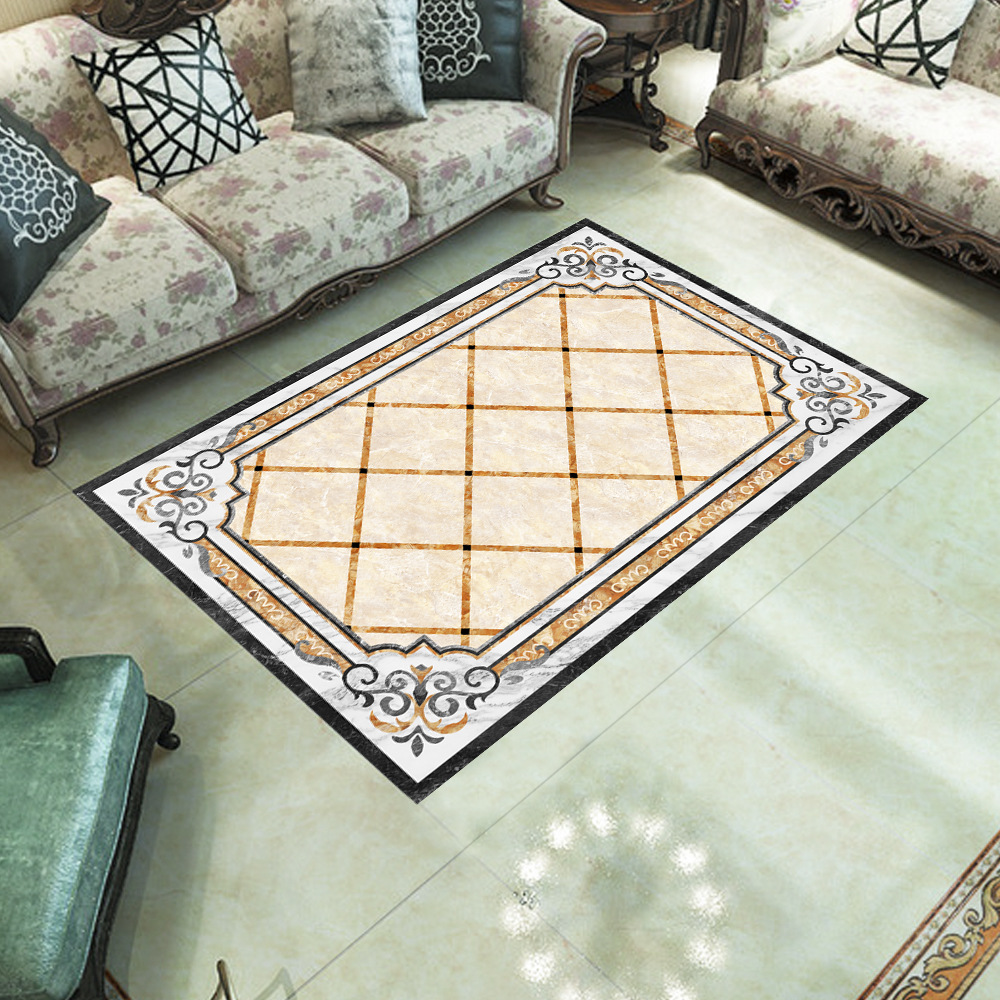Emulation ceramic tile floor bedroom living room background environmental protection self adhesive waterproof PVC wall sticker