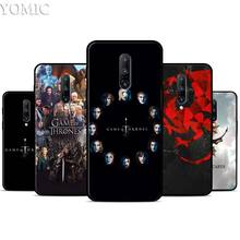 Game of Throne Silicone Case for Oneplus 7 7Pro 5T 6 6T Black Soft Case for Oneplus 7 7 Pro TPU Phone Cover