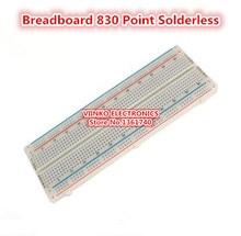 Envío gratis 1 unid Protoboard 830 Puntos Sin Soldadura PCB Bread Board MB-102 Prueba MB102 Desarrollar DIY