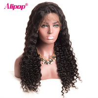 150 Full Lace Human Hair Wigs For Black Women Brazilian Deep Wave Lace Wigs NonRemy Swiss