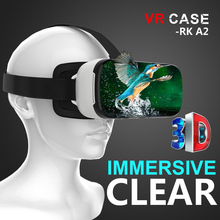 VR CASE A2 All in one VR Helmet 3D Glasses VR Case Octa-Core 2G Virtual Reality Glasses Immersive Clear English PK Bobovr X1