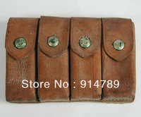 SURPLUS WWII CHINESE KMT KUOMINGTANG ARMY MAUSER QUATERNATE LEATHER AMMO POUCH 33086