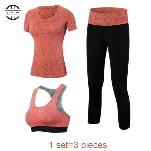 3 Pieces Professional Workout Set Quick Dry