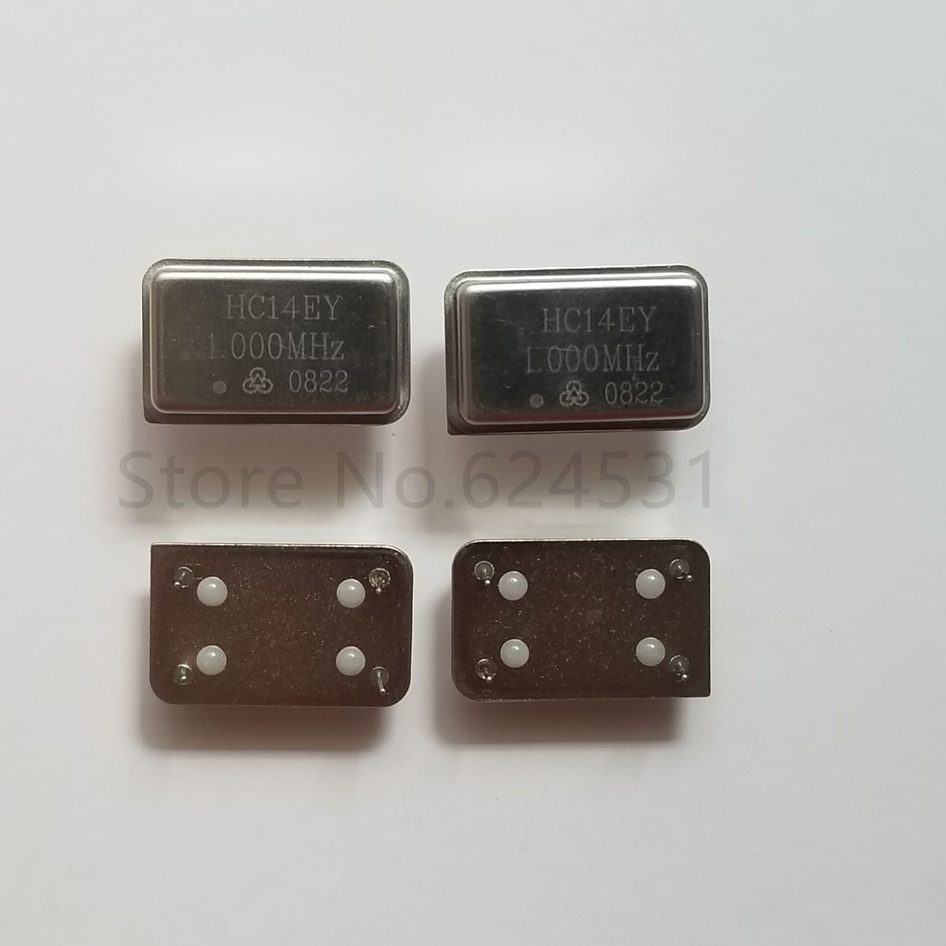 5pcs In-line Active Crystal OSC DIP-4 Rectangular Clock Vibration Full Size 1M 1MHZ 1.000MHZ