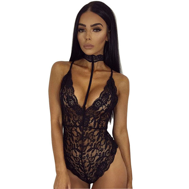 Summer Women Sexy Lace Sleeveless Skinny Jumpsuit Ladies Backless Body Sexy Lace Up Siamese Playsuit Jumpsuit Bodysuit YF278