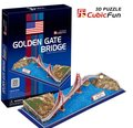 Birthday gifts,educational puzzle toys,3D paper model,World Architecture series,Paper craft,Golden Gate Bridge