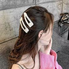 PKSAQ Hair Claws Imitation Pearl Lady Headwear Accessories for Women Hairpins Plastic Elastic Barrette Hot Elegant Hairpin
