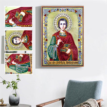 Diamond Mosaic 5D DIY Painting Cross Stitch Religious Character Embroidery Special Shaped Rhinestone