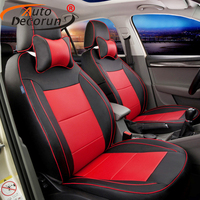 AutoDecorun custom seat cover car PU leather for audi A3 accessories seat covers set car seat cushion support protector 14 16PCS