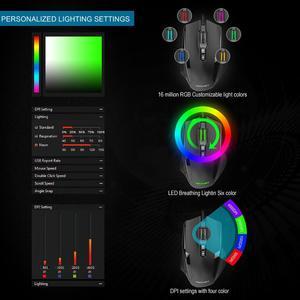 Image 4 - Tecknet Hypertrak Độ Chính Xác Cao Có Thể Lập Trình Laser Có Dây 16400 DPI 10 Nút Bấm Có Thể Lập Trình Được Cân Chỉnh Mực Chuột