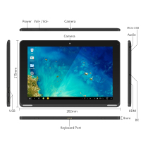 Yuntab B102 10.1 Inch Tablet PC, Android 5.1 Allwinner Quad Core A64 CPU 800*1280 IPS Dual Camera Support SD/MMC/TF Card