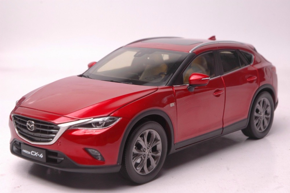 1:18 Diecast Model for Mazda CX-4 2016 Red SUV Alloy Toy Car Miniature Collection Gifts CX 4 CX4 fine special offer jc wings 1 200 xx2457 portuguese air b737 300 algarve alloy aircraft model collection model holiday gifts