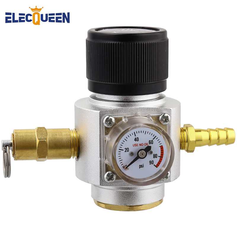 Soda Water Co2 Charger Kit,0-90PSI Mini CO2 Gas Regulator With Release Valve, Directly Connect With T21*4 Soda Water Cylinder